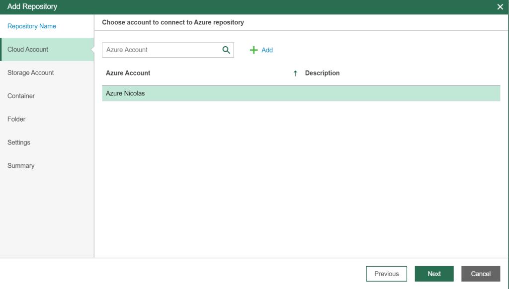 Select Cloud Account
