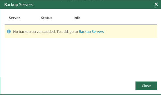 Add new backup server