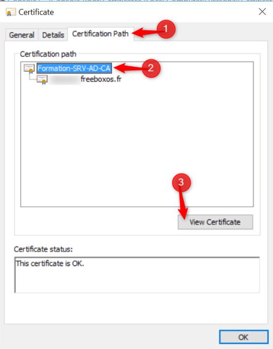 Select Root CA certificate