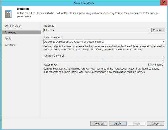 Backup Nas - Configure backup