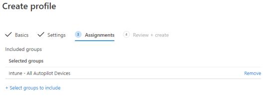 Configure assignment