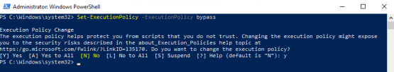 Configure execution policy for powershell script