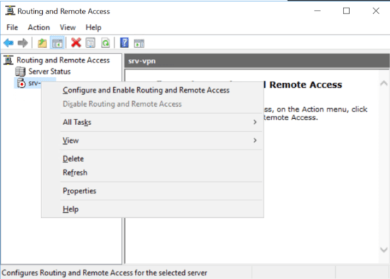 Configure Routing and remote access
