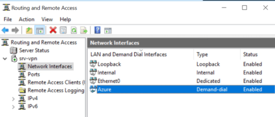 Network interfaces has created