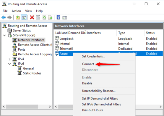 Right click on Azure and connect it