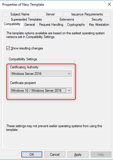 Configure certification authority