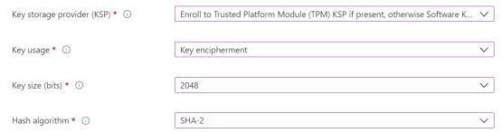Configure SCEP profile