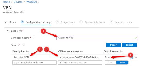 Configure VPN Server Address