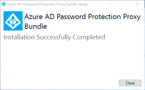 Azure AD Password Protection - Close installation