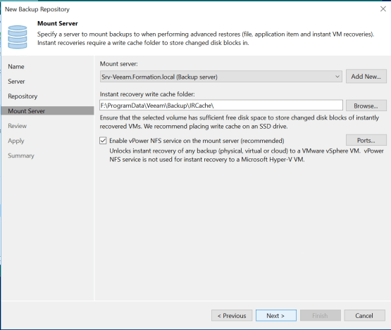 configure mount server