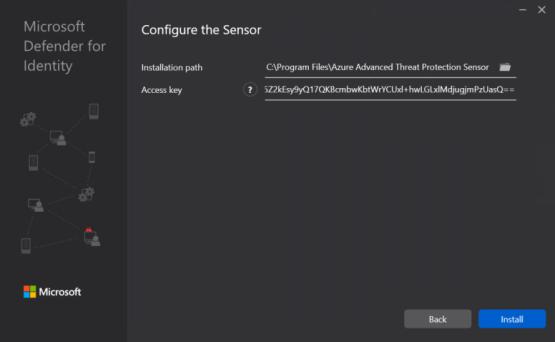 Install Defender for Identity sensor