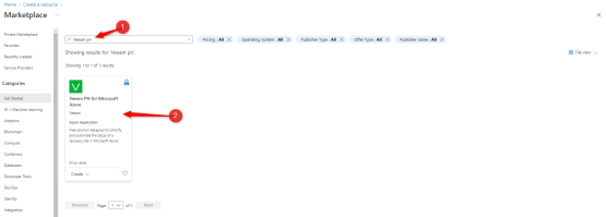 PRA with Azure - install Veeam PN