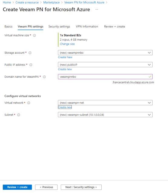Configure vpn settings