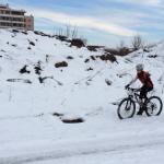Deosebitul meu talent pe mountain bike in zapada