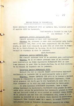 Proces verbal de confruntare între Ioan Ianolide și Nuți Pătrășcanu