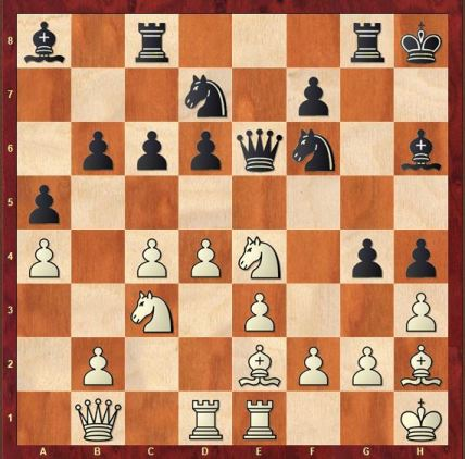 London vs King's Indian set up. Black lost his e4 pawn and his attack is going nowhere.