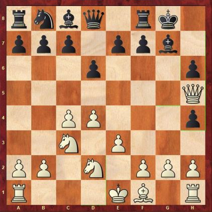 Black tried to capture the f4 bishop but ends up with pawn weaknesses.