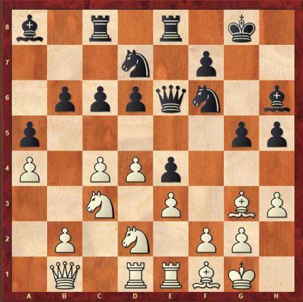 London vs King's Indian set up. Black prepares his kingside onslaught.