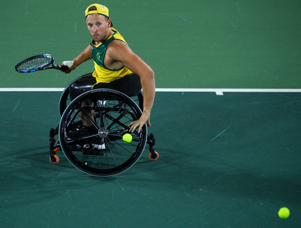 wheelchair quad ikea bean bag chairs item ioc photos dylan alcott aus playing against andy lapthorne gbr in the singles gold medal match tennis at olympic centre