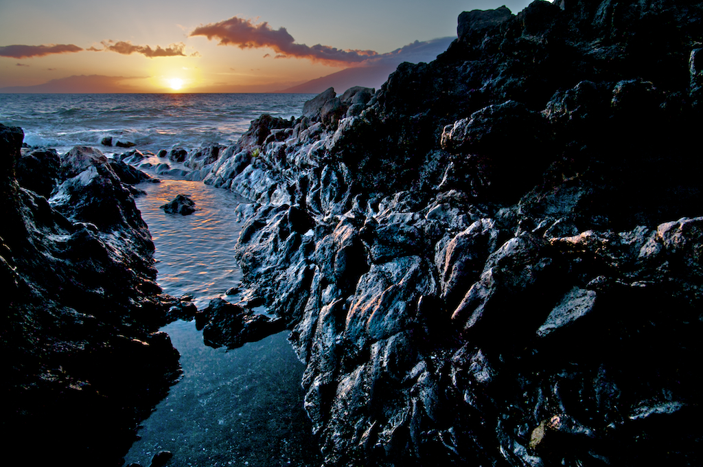 Lava Rock Sunset