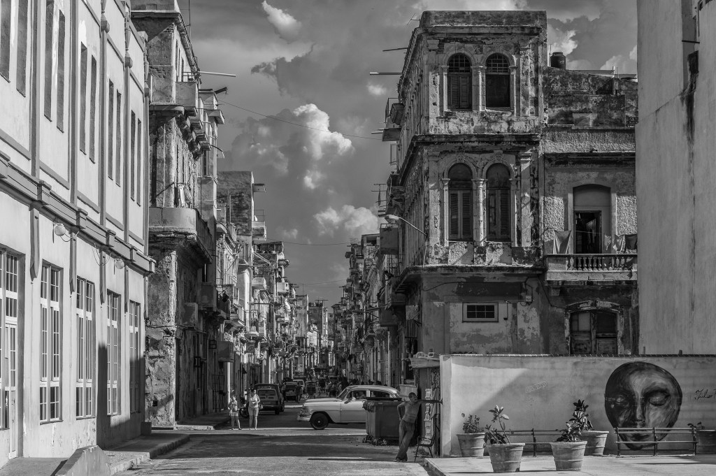 Looking From Malecon Drive Into Old Havana