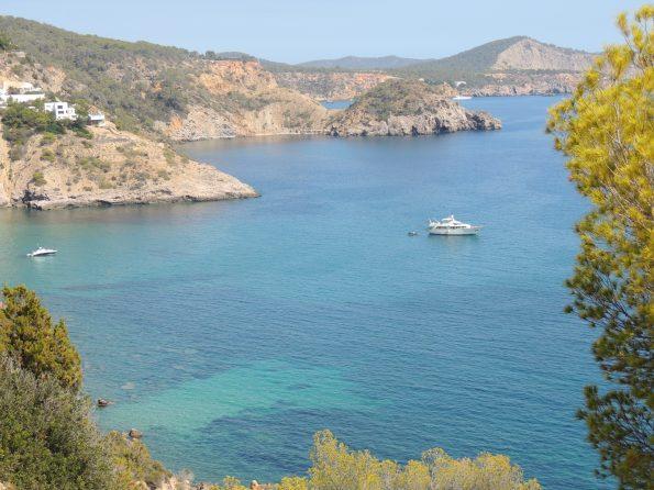 Playa Es Cubell dall'alto