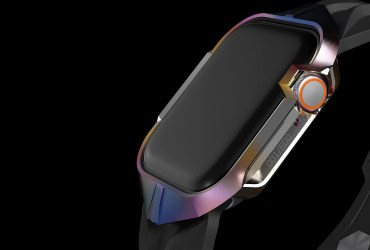 Gray's case with band CYBER WATCH adds sci-fi design to Apple Watch