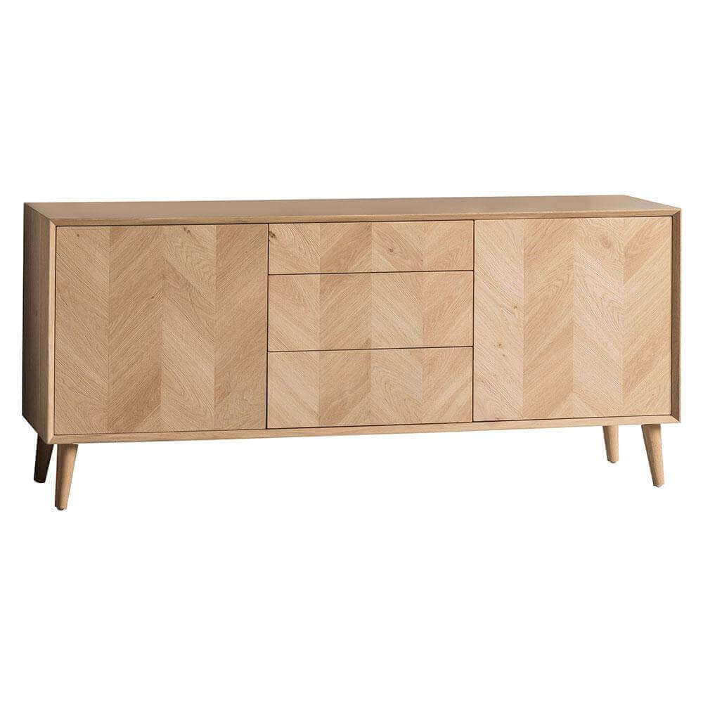 Sideboard Modern The Modern Light Oak 2 Door / 3 Drawer Sideboard