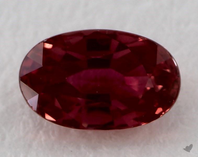 Gemstones Red Ruby 0 77 Carat Oval Sku 20088