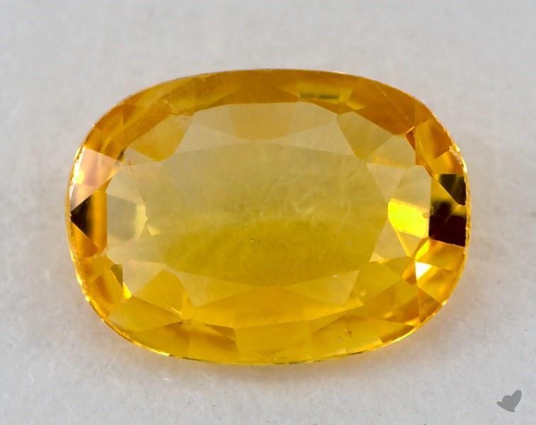 Gemstones Yellow Sapphire 071 Carat Oval Sku 20845