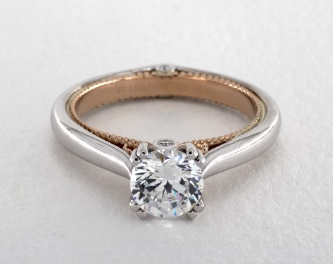 Verragio Couture Engagement Ring 18K White Gold And Rose
