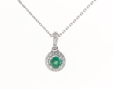 fine jewelry, gemstone pendants, 14k white gold green