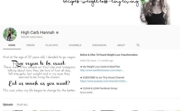 weight loss channels YouTube