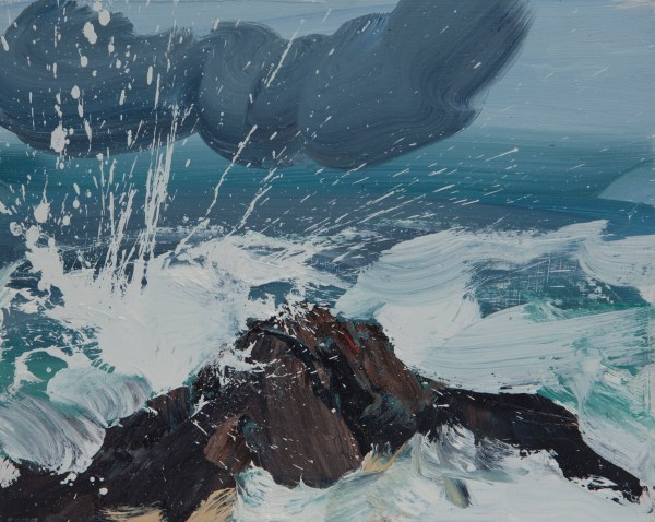 Squall, High Tide,Oil On Board ,Alison Critchlow