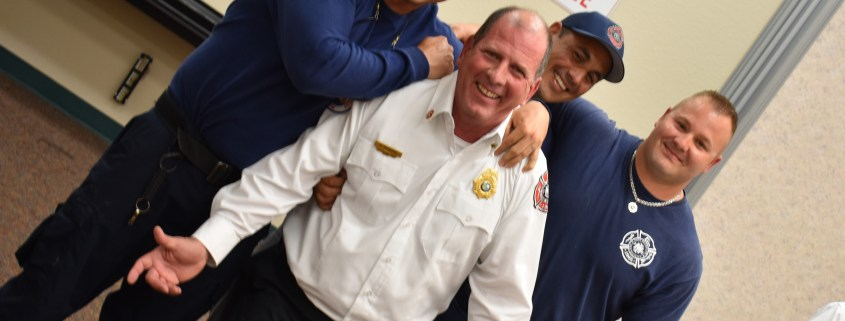 Firefighters with Chief Howard