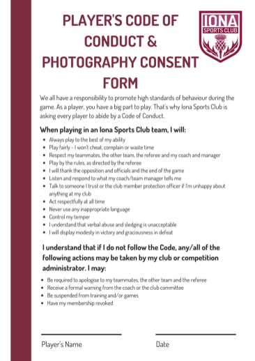 Player's Code of Conduct