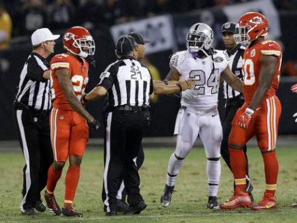 Marshawn Lynch Ejected In Crazy Thursday Night Oakland Win