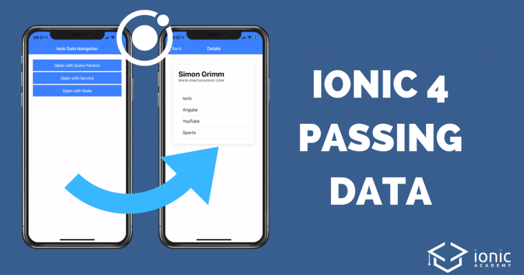 ionic-4-pass-data-router
