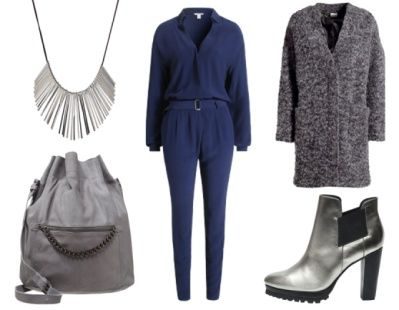 2. How To Wear Navy To Work: Navy + Cool Grey