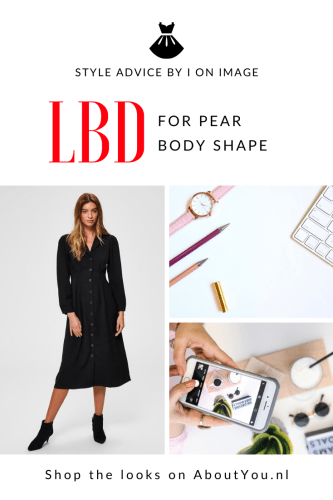 little black dress for pear body shape