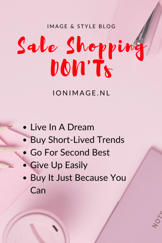 Sale Shopping DON'Ts by Personal Shopper Jenni at I on Image