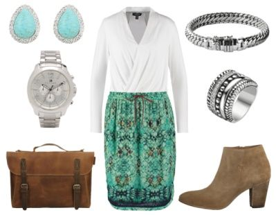 2. How To Wear Green To Work: Green + Fresh White