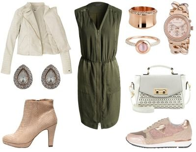 4. How To Wear Green To Work: Green + Chic Blush Pink