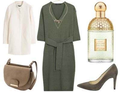 How To Wear1. How To Wear Green To Work: Green + Elegant Cream