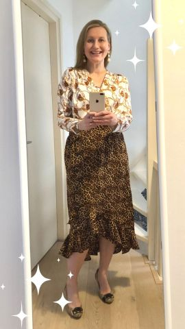 Mix animal prints with other prints