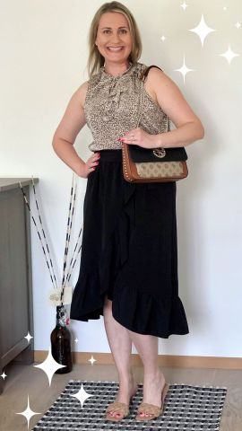 Wearing leopard print with classic black