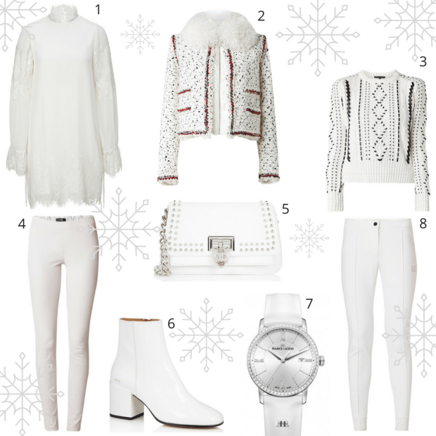 Winter whites selected by personal stylist and shopper Jenni at I on Image