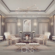 Lounge Room Design In Refined Transitional Style Ions