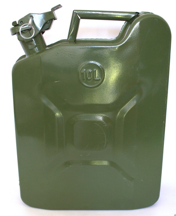 Jerry 2 1 Gallon 10l Gas Fuel Army Nato Military Style Metal Green Prepper