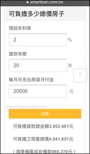 《聰明貸款App》車貸,房貸,信貸計算機,試算每月需繳的利息是多少。(Android,iOS) | iOpenApps
